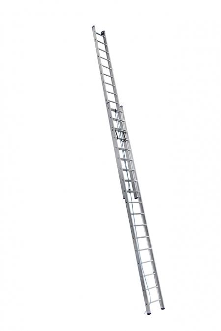 ALUMET Лестница двухсекционная 2Х18 ступ. проф. с канатной тягой серия SR2, (арт. 3218)