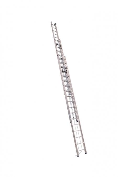 ALUMET Лестница трёхсекционная 3Х18 ступ. проф. с канатной тягой серия SR3, (арт. 3318)