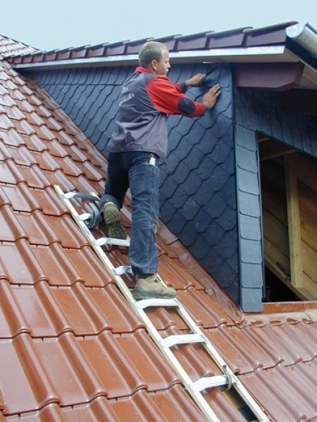 Лестница для крыши деревянная с алюм. ступенями 10 ступ. 804211
