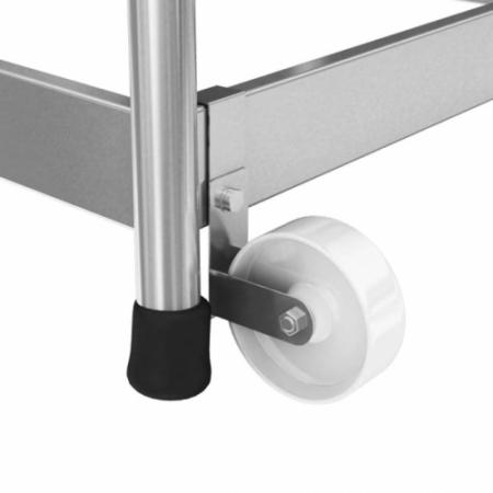 KRAUSE Подставка алюминиевая передвижная с поручнем 3 ступ. (арт. 805089)