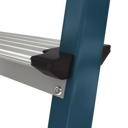 Securo анодированная стремянка с широкими ступенями 125мм. 4 ступ.