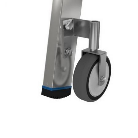 Stabilo алюминиевая передвижная стремянка 5 ступ.