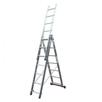 KRAUSE Corda Алюминиевая лестница с доп. функцией 3Х7 ступ. (арт. 013378)