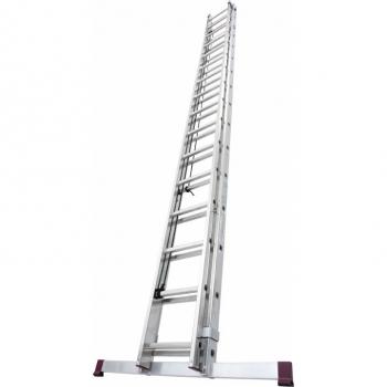 KRAUSE Алюминиевая двухсекционная лестница выдвигаемая тросом 2Х14 ступ. (арт. 030511)