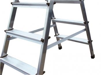 KRAUSE Dopplo Лестница-Стремянка двухсторонняя 2Х4 ступ. (арт. 120335)
