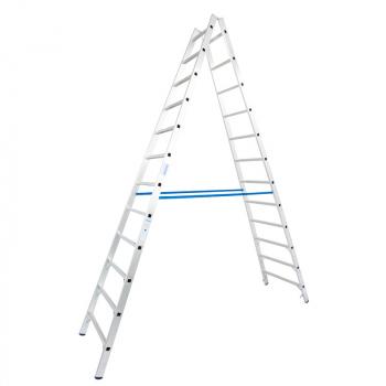 KRAUSE Stabilo Двусторонняя стремянка с перекладинами 2Х12 ступ. (арт. 124944)
