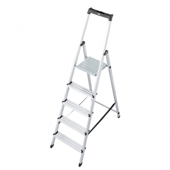 Solidy свободностоящая алюминиевая стремянка 5 ступ.