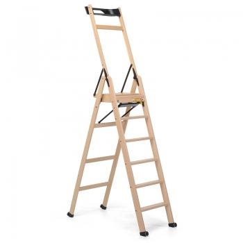 Стремянка деревянная Lascala 6 ступеней, цвет бук (арт. LS6B)