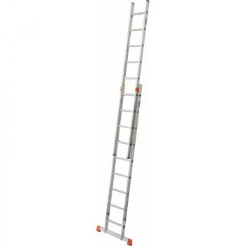 KRAUSE Fabilo Двухсекционная выдвижная лестница 2Х15 ступ. (арт. 120939)