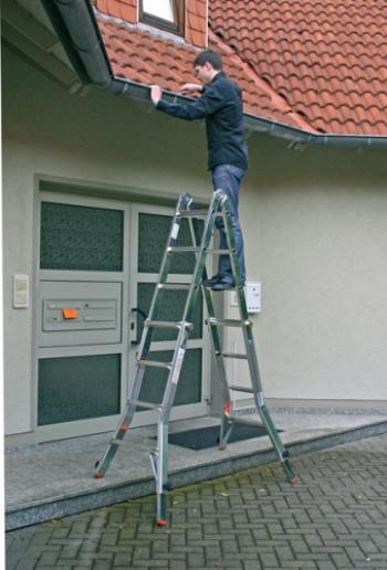 Televario шарнирная лестница с удлинителями стоек 4Х4 арт.129970 (122162)