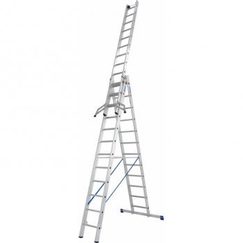 KRAUSE Stabilo Профессиональная 3х-секционная лестница 3Х12 ступ. (арт. 133700)