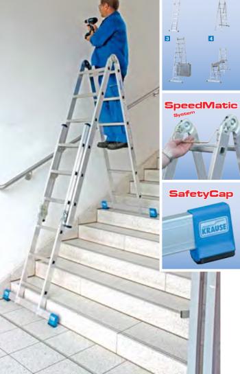 Комбинированная шарнирная лестница 2x3+2x6 Krause Stabilo