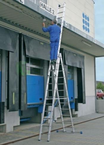 Профессиональная 3-секционная лестница 3x14 Stabilo Krause