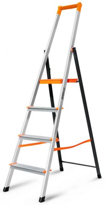 Алюминиевая свободностоящая стремянка Фаворит Профи 4 ступени