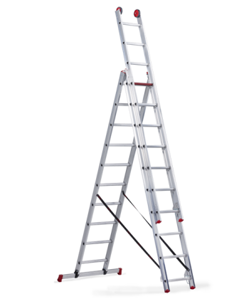 All Round трехсекционная комбинирована лестница 3Х9