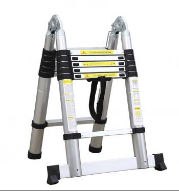 Телескопическая лестница-стремянка 3.80 м 2х6 ступ.