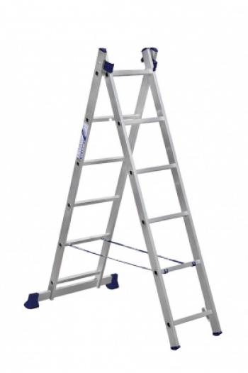 ALUMET Алюминиевая двухсекционная лестница 2Х6 ступ. (арт.5206)