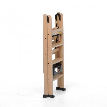 Стремянка деревянная Lascala 4 ступени, цвет бук (арт. LS4B)