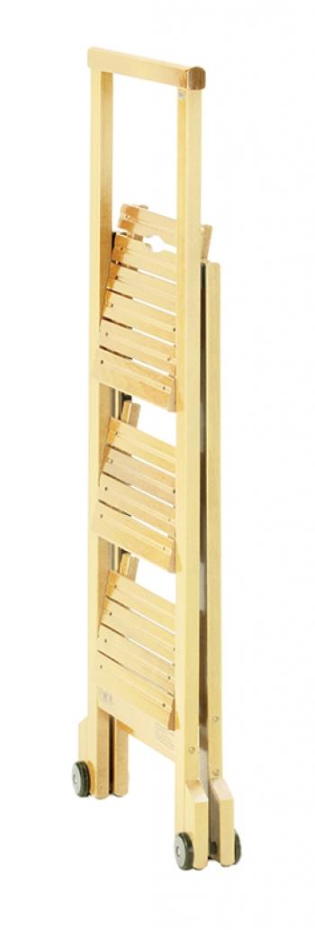 Стул-стремянка деревянная Biblio-3, цвет бук (арт. 913B)