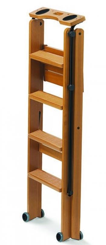 Деревянная лестница - стремянка 4 ступени Tuscania, вишня (арт. 170/4V)