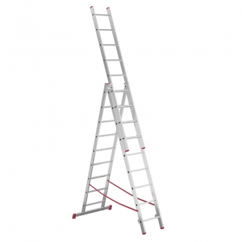 ALPOS Алюминиевая 3х-секционная лестница-стремянка 3Х9 ступ. (арт. 4409)