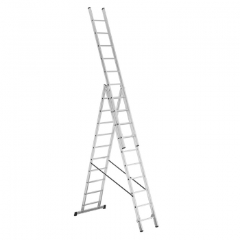 ALPOS Алюминиевая 3-секционная лестница-стремянка 3Х10 ступ. (арт. 3810)