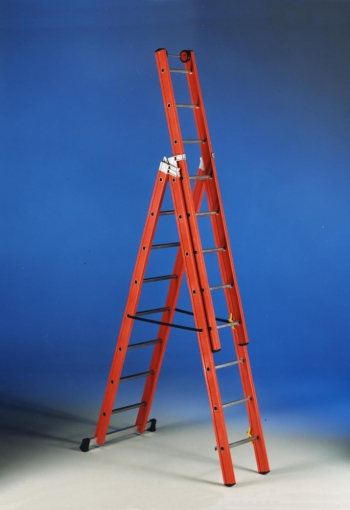 SVELT V3X12 Диэлектрическая трехсекционная лестница из стеклопластика (арт. SVETS330)
