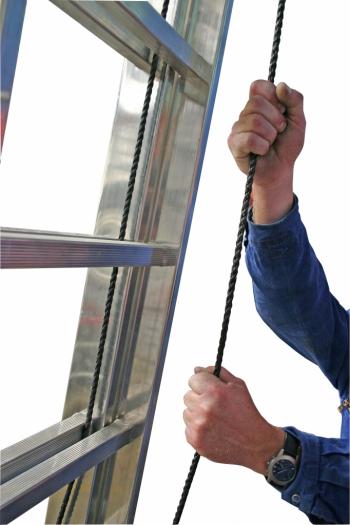 KRAUSE Stabilo Двухсекционная выдвижная лестница с тросом 2Х24 ступ. (арт. 800725)