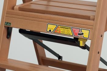 Стремянка деревянная Lascala 5 ступеней, цвет бук (арт. LS5B)