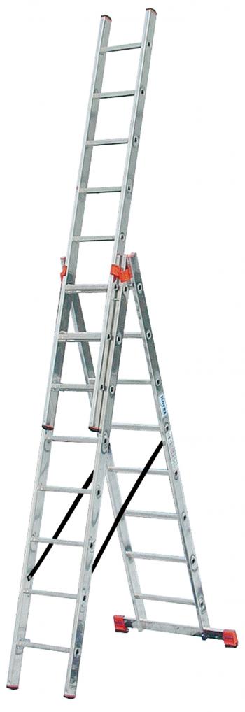 Универсальная 3-секционная лестница 3x8 с доп. функ. Tribilo Krause
