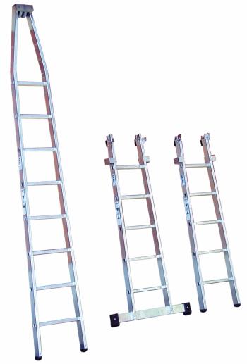 KRAUSE Лестница для мытья стекол 2 секции (арт. 802132)