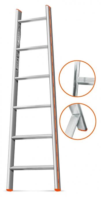 """Приставная лестница Эйфель """"Комфорт-Профи-Пирамида"""" 6 ступ."""