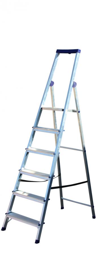 Алюминиевая стремянка Stairs Люкс 6 ступеней