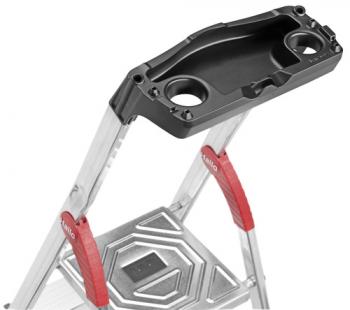 Стремянка алюминиевая Hailo L60 8 ступеней EasyClix
