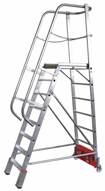 KRAUSE Stabilo Vario Kompakt Лестница с платформой 8 ступ. траверса 1365 (арт. 833143)