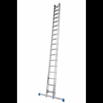 Профессиональная трехсекционная лестница выдвигаемая тросом 3х16 Krause Stabilo