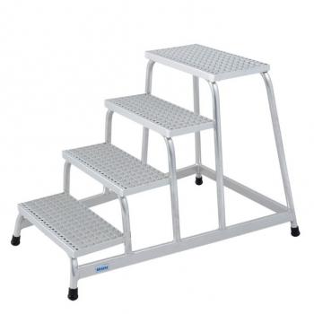 KRAUSE Подставка алюминиевая с решетчатыми ступенями 4 ступ. (арт. 805348)