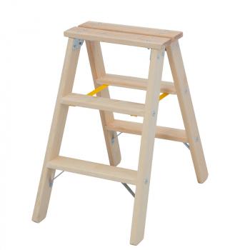 Деревянная лестница-стремянка со ступенями 2х3 Krause