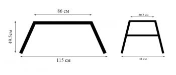 Складная рабочая платформа 115x86