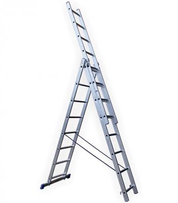 Универсальная трехсекционная лестница 3х6 ступеней СТАИРС