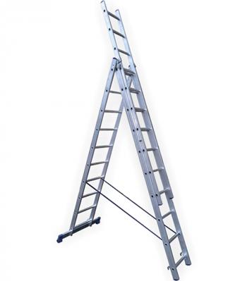 Универсальная трехсекционная лестница 3х10 ступеней СТАИРС
