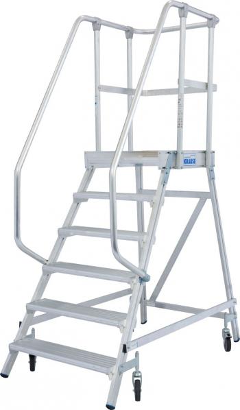 KRAUSE Stabilo Односторонняя передвижная лестница с платформой 6 ступ. (арт. 820167)