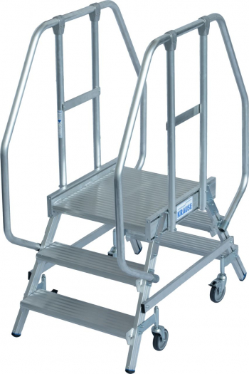 KRAUSE Stabilo Двухсторонняя передвижная лестница с платформой 2Х3 ступ. (арт. 820235)