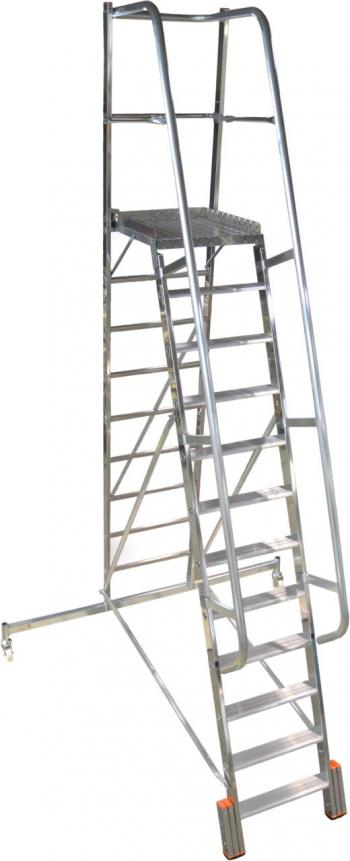 KRAUSE Stabilo Vario Kompakt Лестница с платформой 12 ступ. траверса 2000 (арт. 833365)
