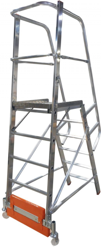 KRAUSE Stabilo Vario Kompakt Лестница с платформой 6 ступ. траверса 750 (арт. 833013)