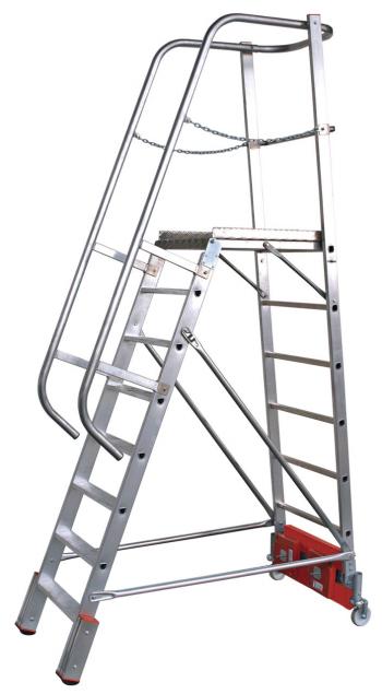 KRAUSE Stabilo Vario Kompakt Лестница с платформой 8 ступ. траверса 750 (арт. 833037)