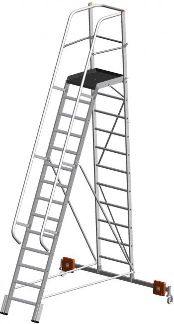 KRAUSE Stabilo Vario Kompakt Лестница с платформой 14 ступ. траверса 2000 (арт. 833372)