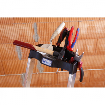 KRAUSE Safety Алюминиевая стремянка с большой полкой 4 ступ. (арт. 128942)