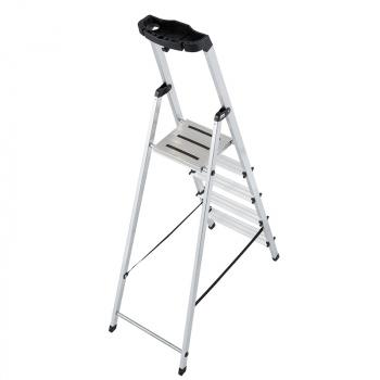 Safety алюминиевая стремянка с большой полкой 5 ступ.