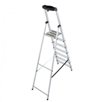 KRAUSE Safety Алюминевая стремянка с большой полкой 6 ступ. (арт. 128973)